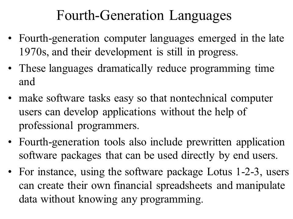 Fourth-Generation Languages