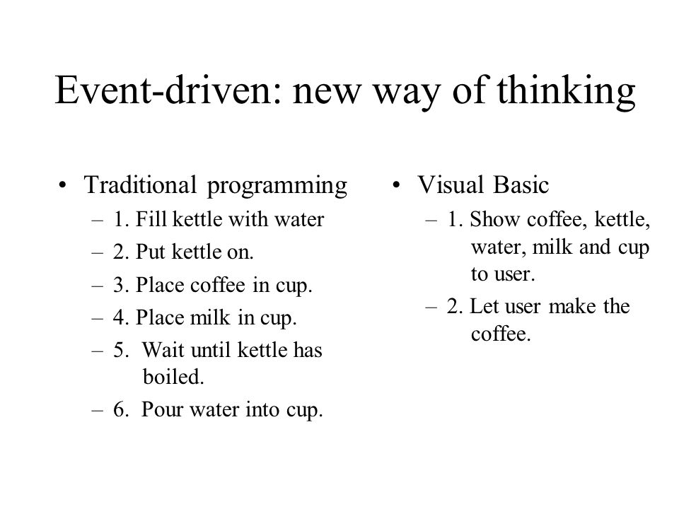 Event-driven: new way of thinking