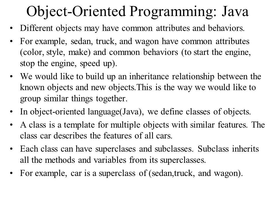 Object-Oriented Programming: Java
