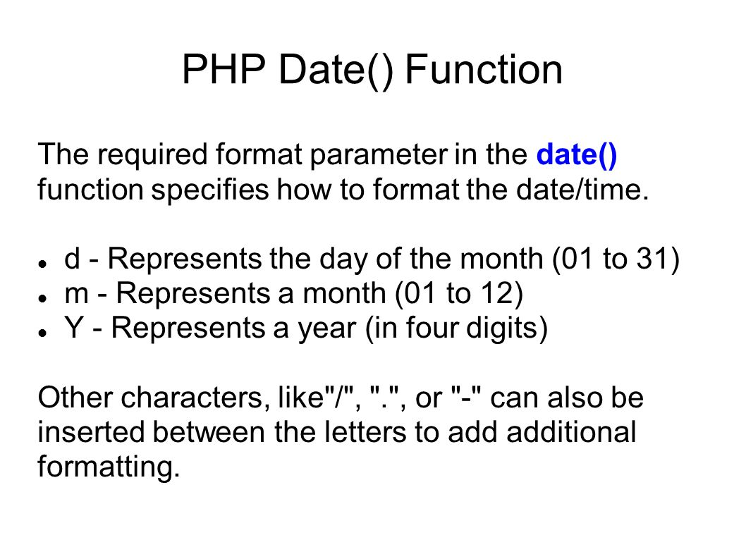 Php date function in Brisbane