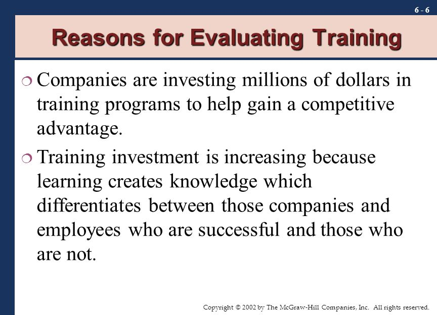 Chapter Training Evaluation  Ppt Video Online Download