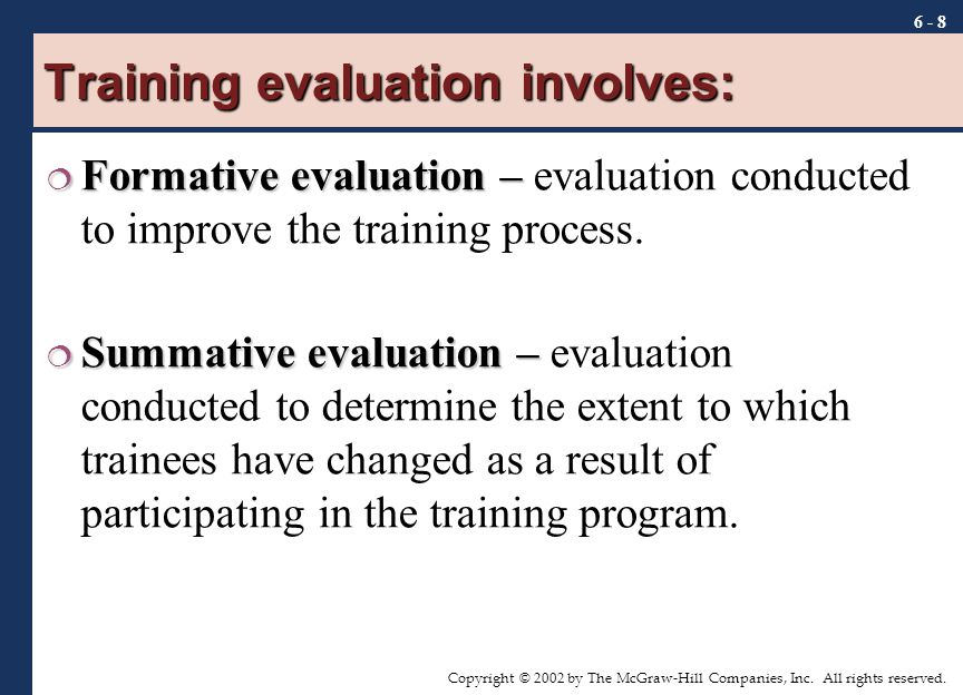 Chapter Training Evaluation  Ppt Download