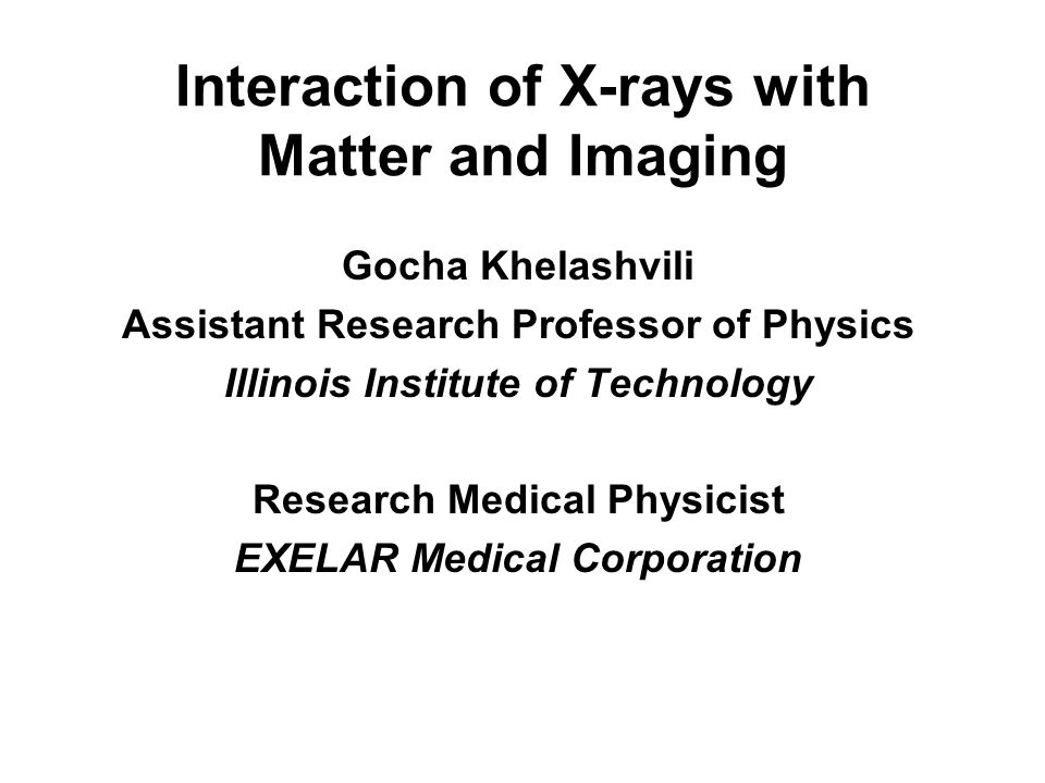 x ray interaction with matter essay