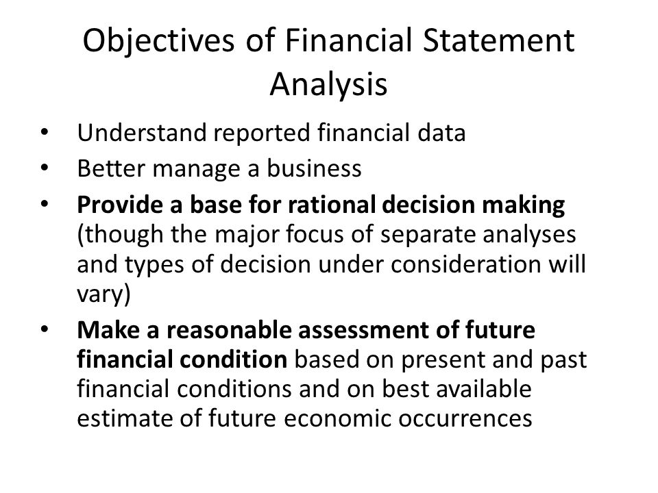 Financial Statement Analysis - Ppt Video Online Download