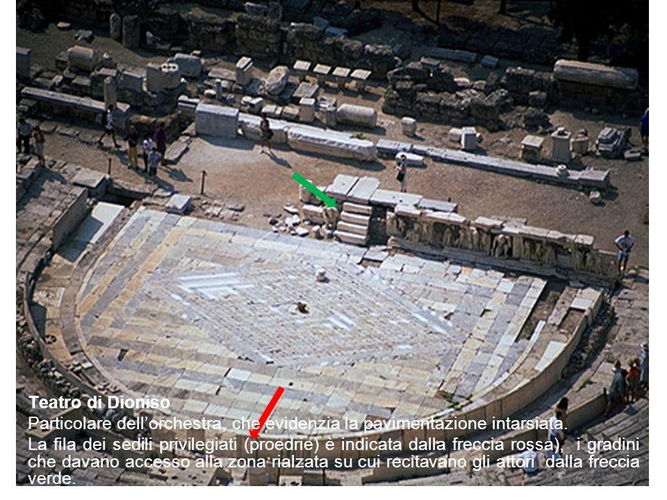 Teatro di Dioniso Particolare dell'orchestra, che evidenzia la pavimentazione intarsiata.