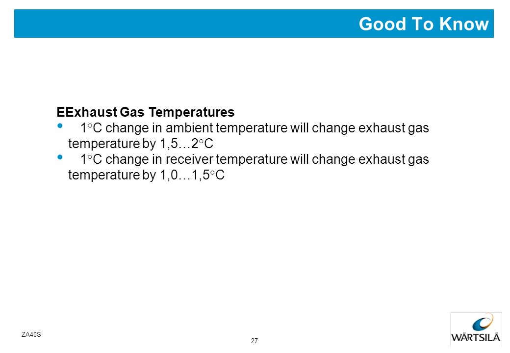 Good To Know EExhaust Gas Temperatures