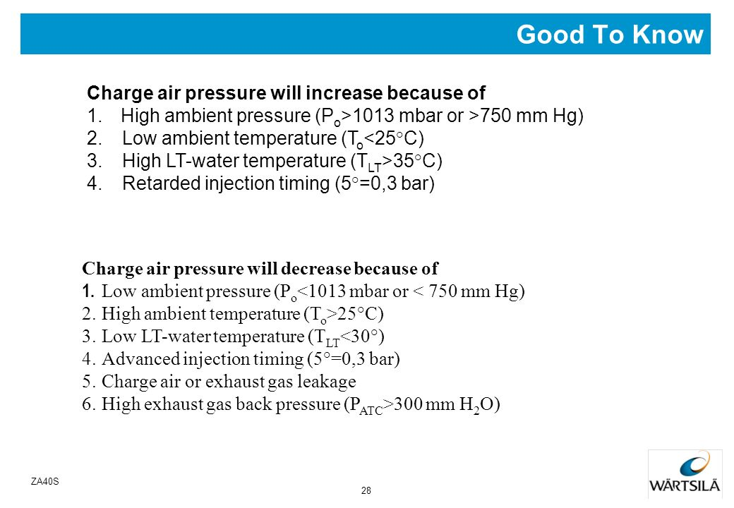 Good To Know Charge air pressure will increase because of