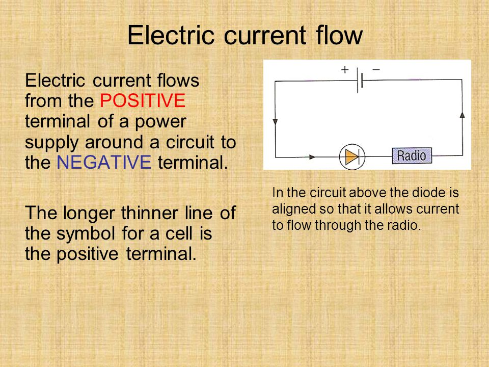Electric Current Flow