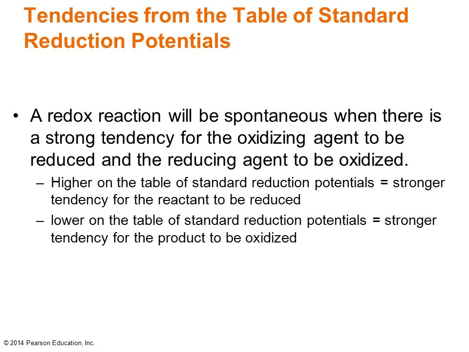 how to choose correct half reaction from the redox table