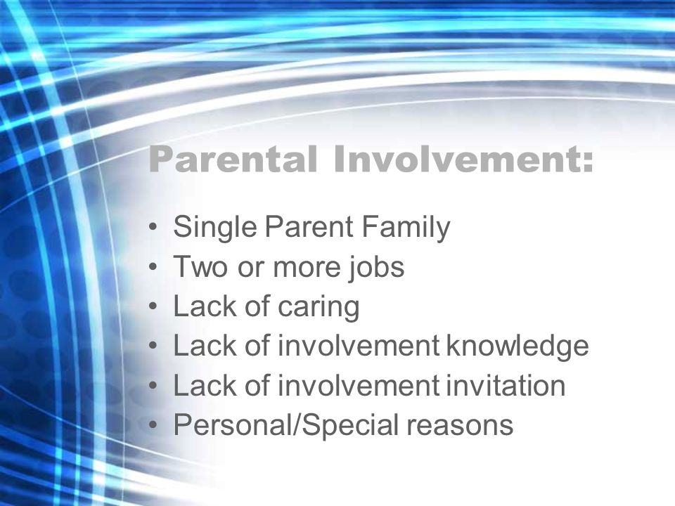 Parental Involvement: