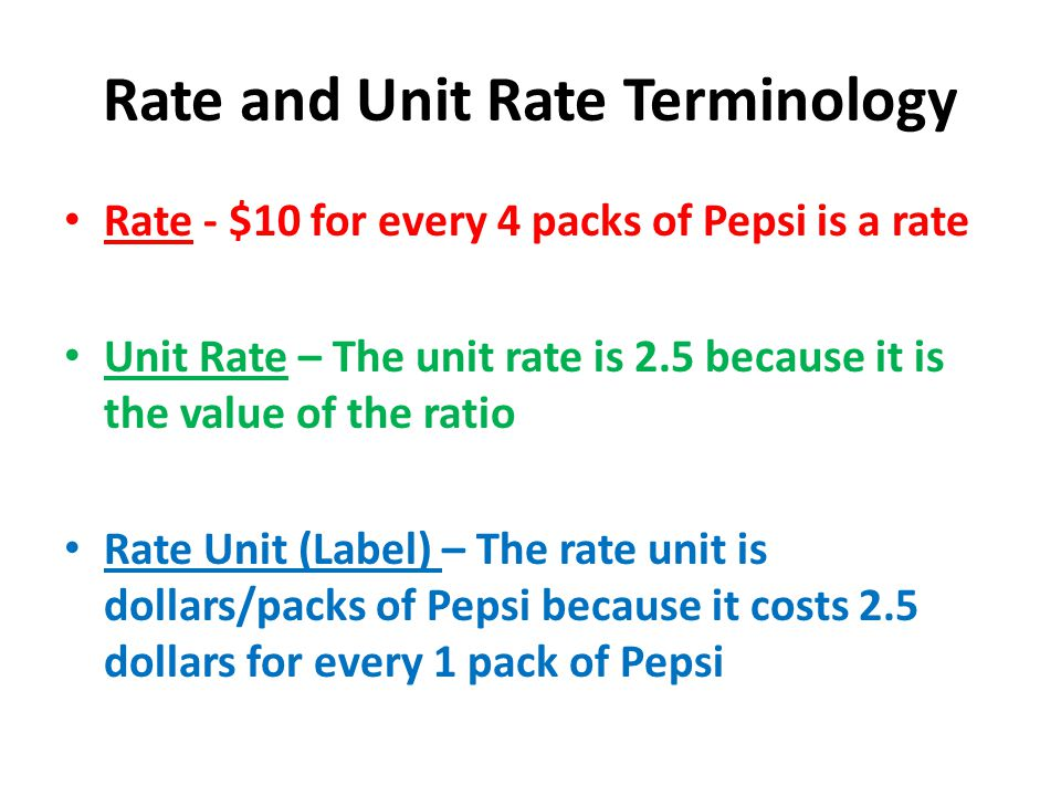 Rate,Unit rate,Unit price