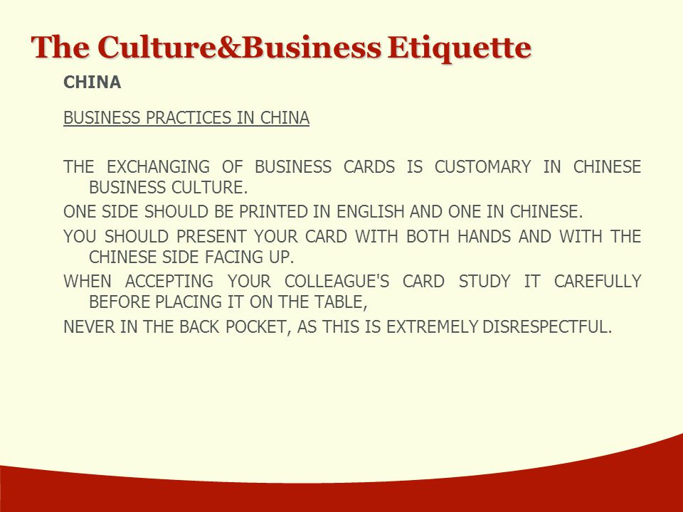 chinese business culture Chinese business networks are sustained by chinese cultural values and  tradition when these values disappear, the networks will collapse the following .
