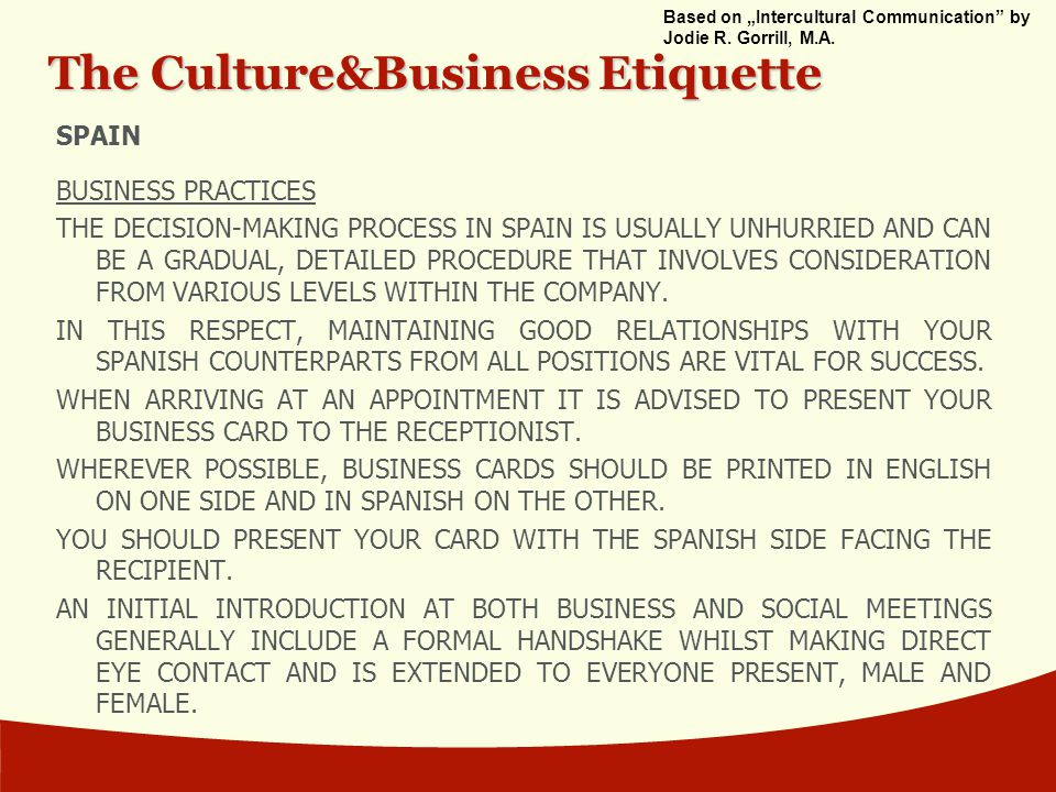 business communication in spain Business communication 20 - university of huelva, spain, huelva, spain 574 likes 8 were here facebook page for the community of students following.