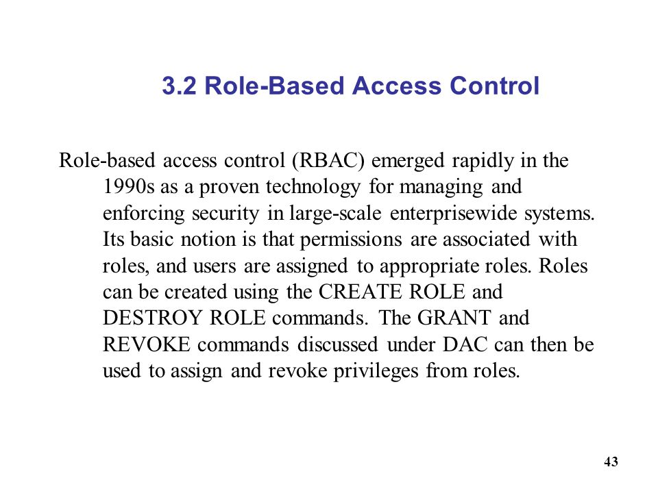3.2 Role-Based Access Control