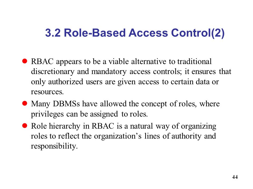 3.2 Role-Based Access Control(2)