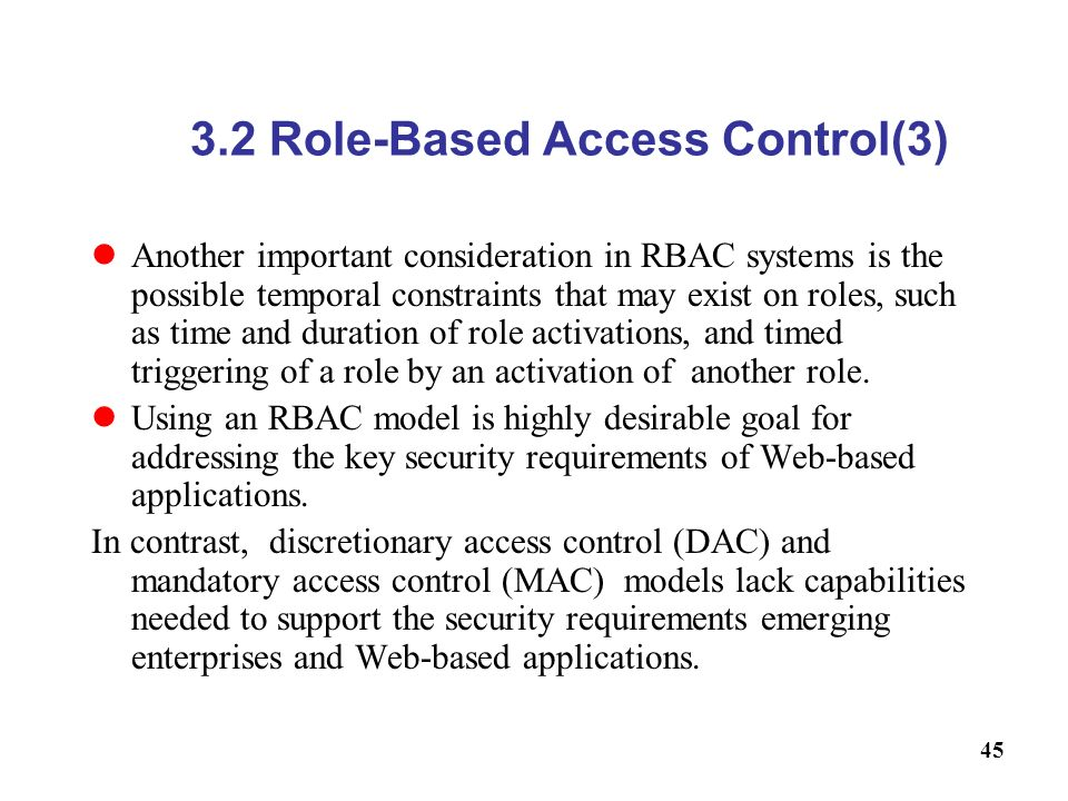 3.2 Role-Based Access Control(3)