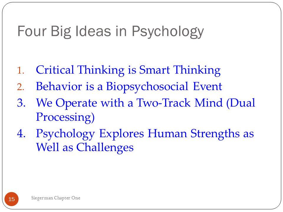 Psychology Critical Thinking