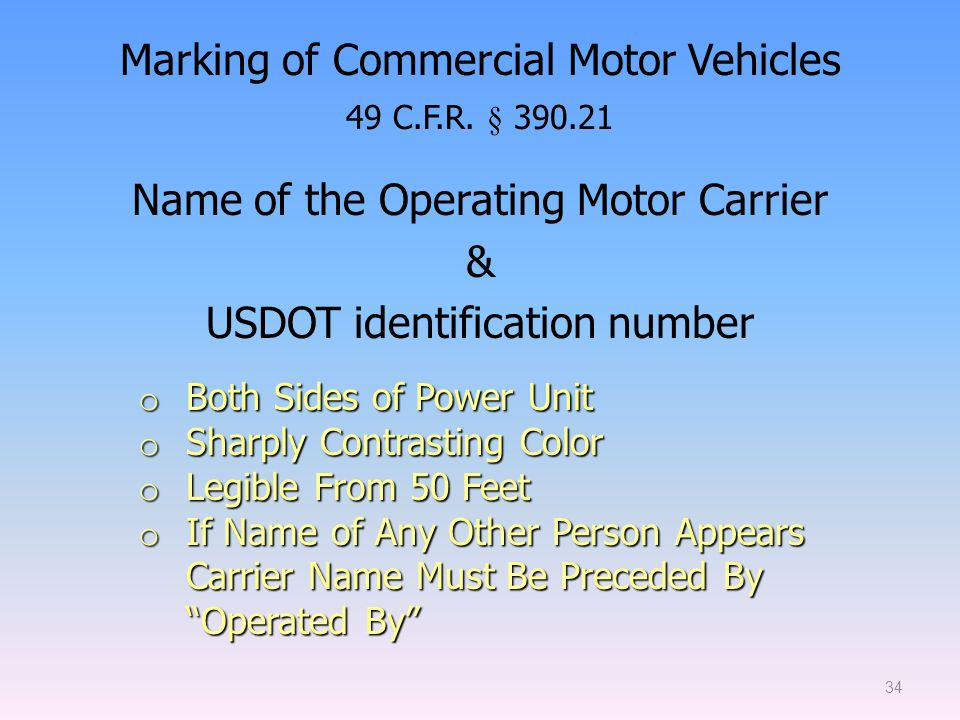 Intrastate new entrant safety seminar ppt download for Motor carrier identification report mcs 150
