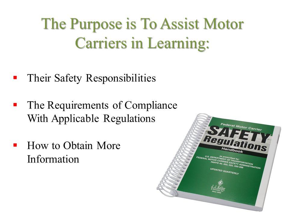 Intrastate New Entrant Safety Seminar Ppt Download