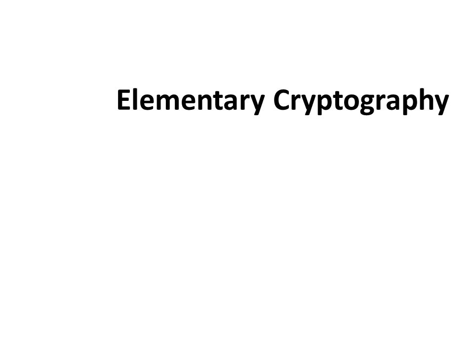 Elementary Cryptography