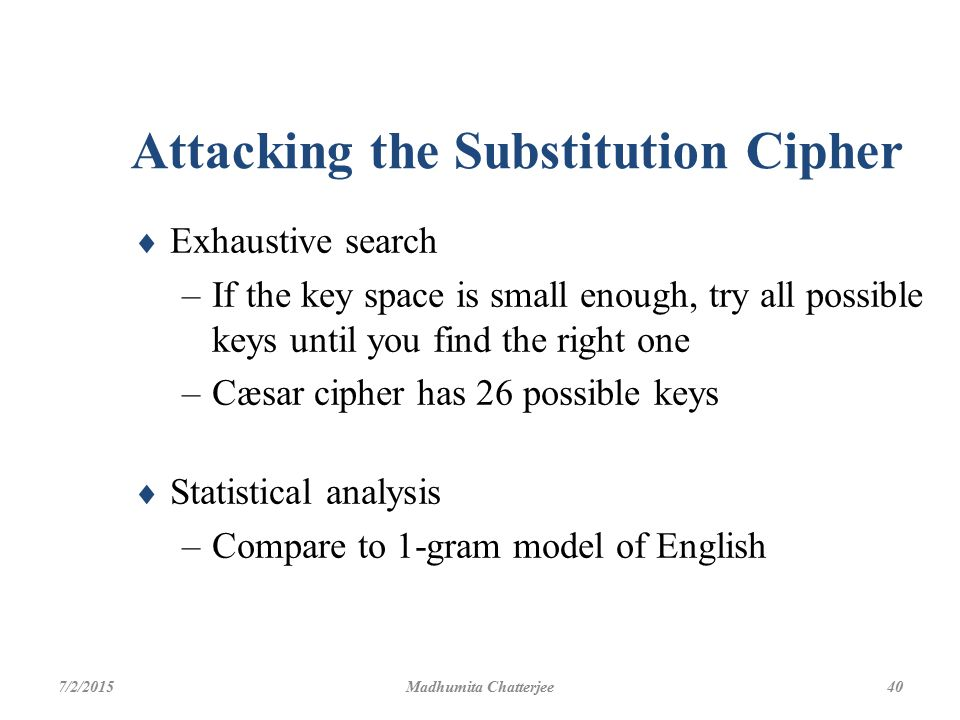 Attacking the Substitution Cipher