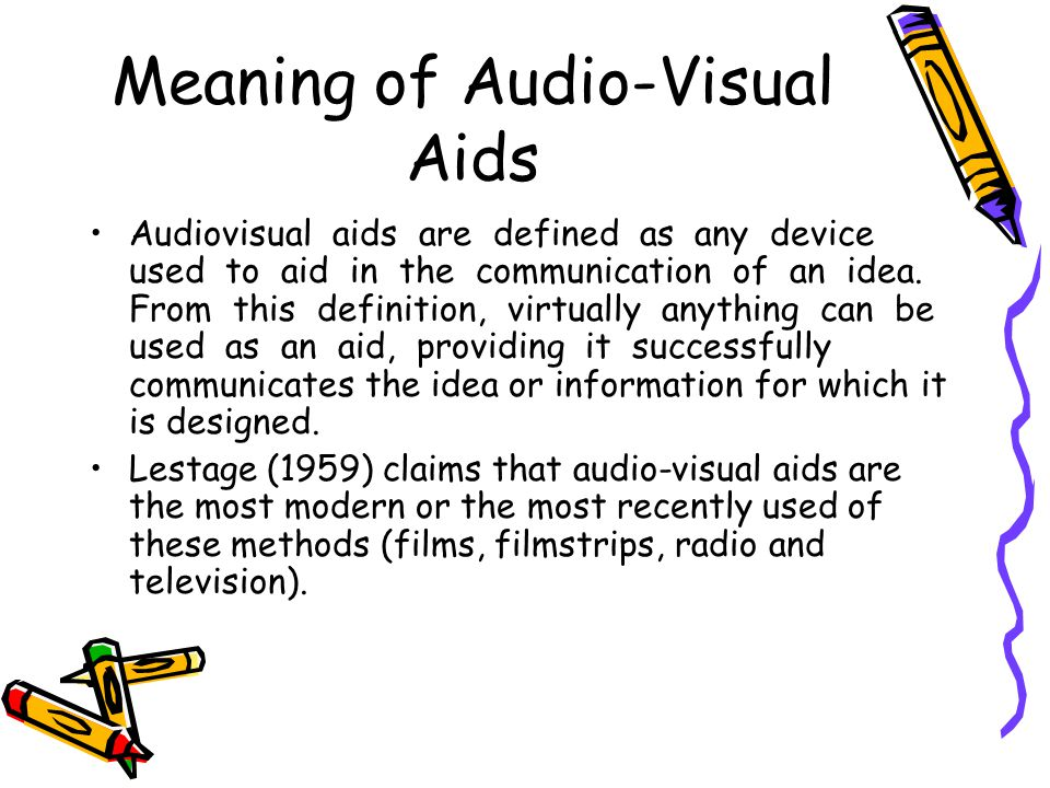 10 Meaning of Audio-Visual Aids ...