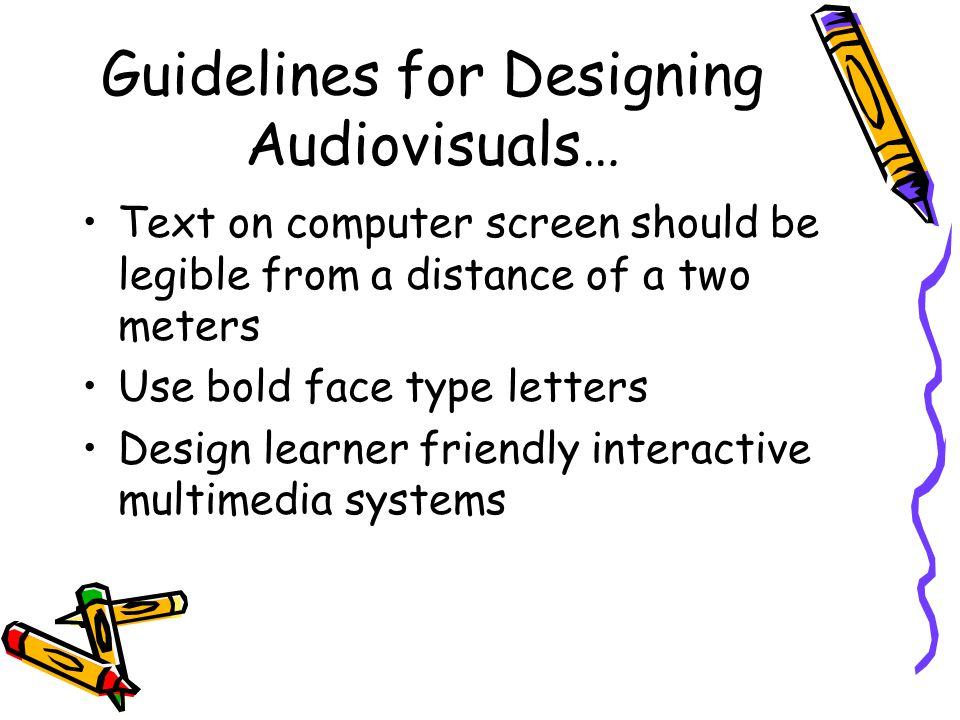 aetm audio visual design guidelines