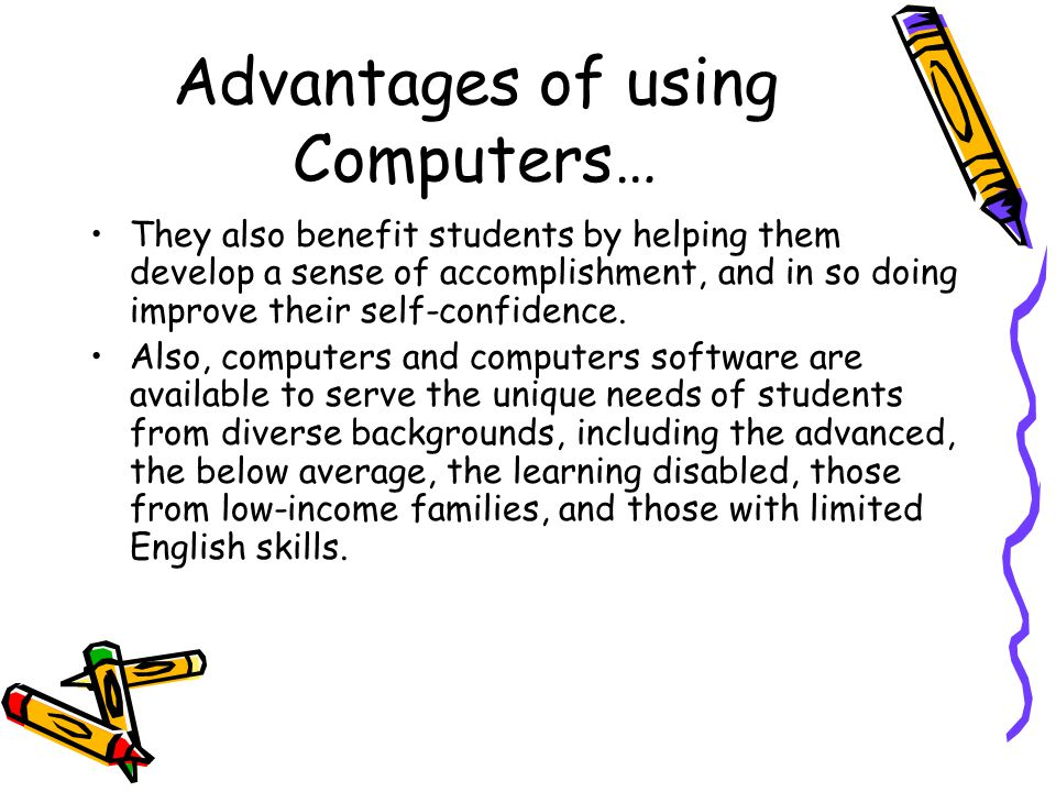 the advantages of using a computerized Get an answer for 'what are the advantages of a computer' and find homework help a computerized insta there are many advantages because it can be used.