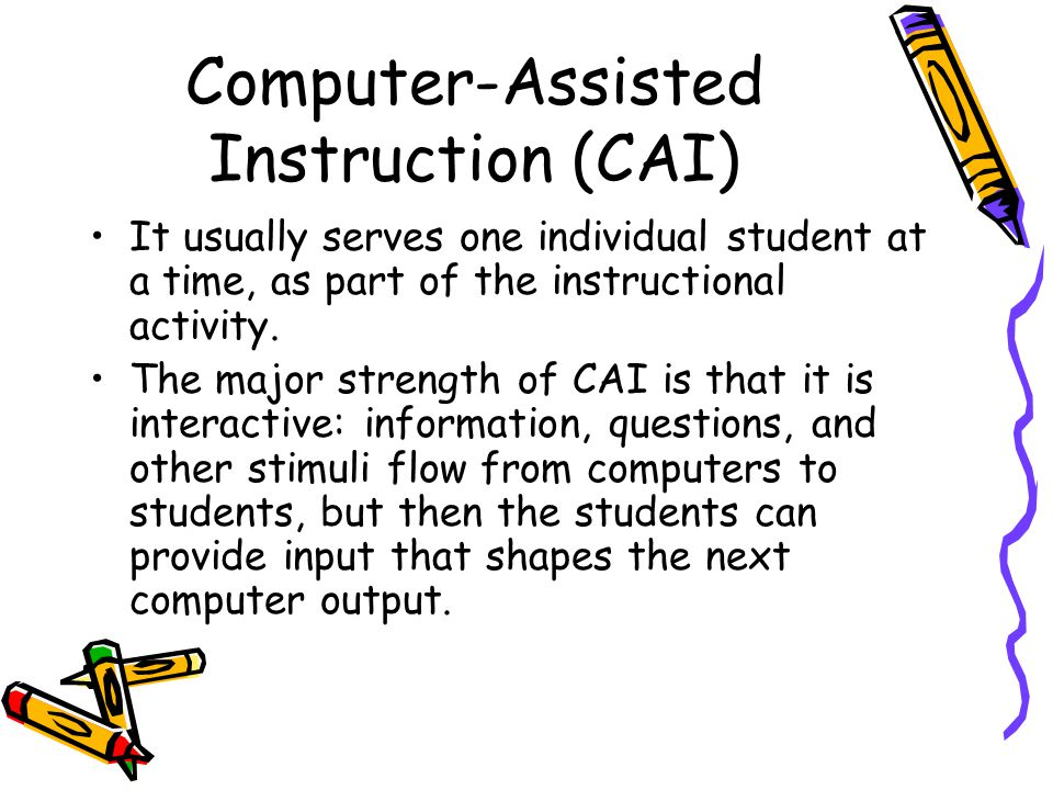 computer assisted instruction cai research validity Computer assisted instruction weight to develop and evaluate a computer assisted instruction you or your doctor may contact the study research staff.