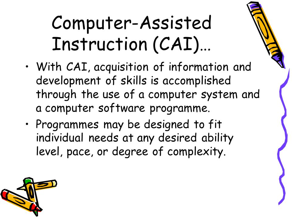 Computer Assisted Instruction And Science Term Paper Help