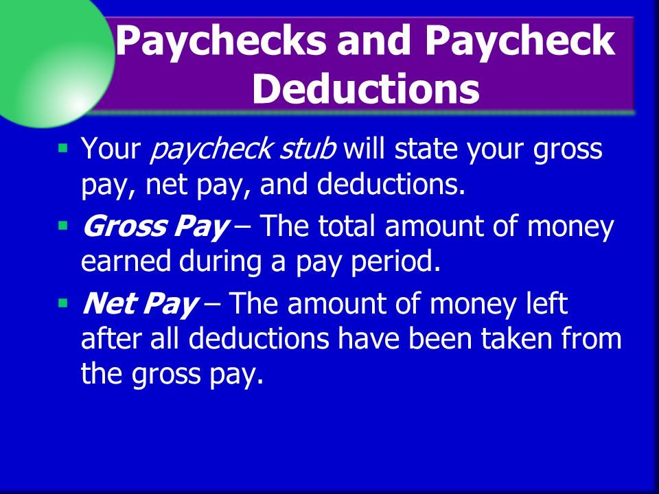 deductions from gross income Gross income is all a person's receipts and gains from all sources, before any deductions the adjective gross, as opposed to net,.