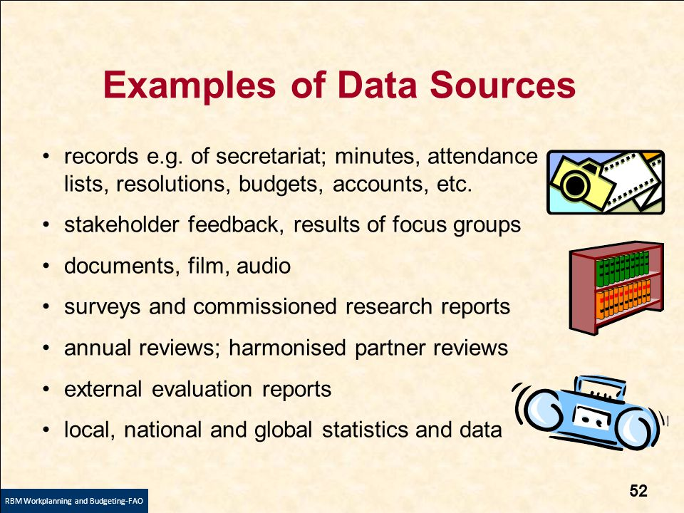 evaluation of data sources for national This excel workbook contains a worksheet listing federal or national data sources  and one containing state and local data sources each worksheet lists the data.