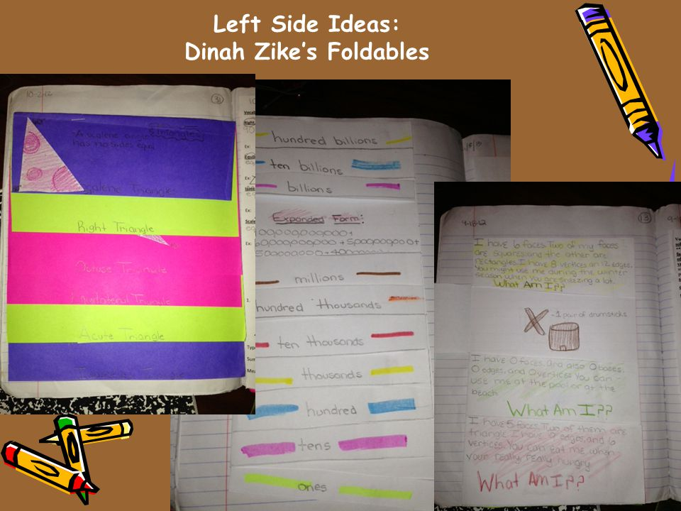Left Side Ideas: Dinah Zike's Foldables