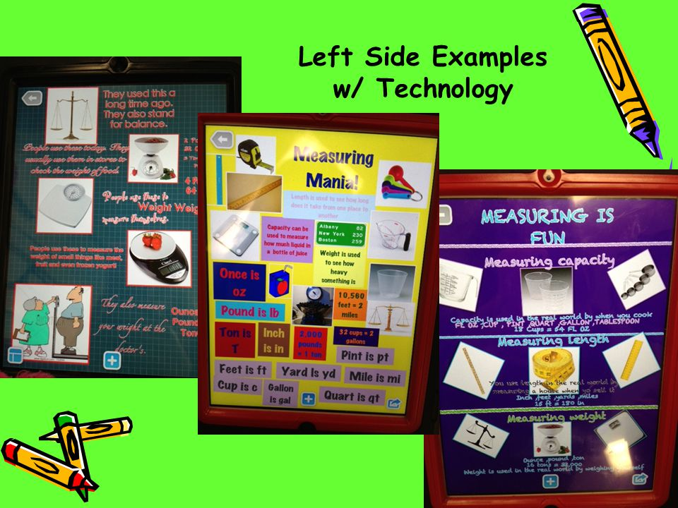Left Side Examples w/ Technology