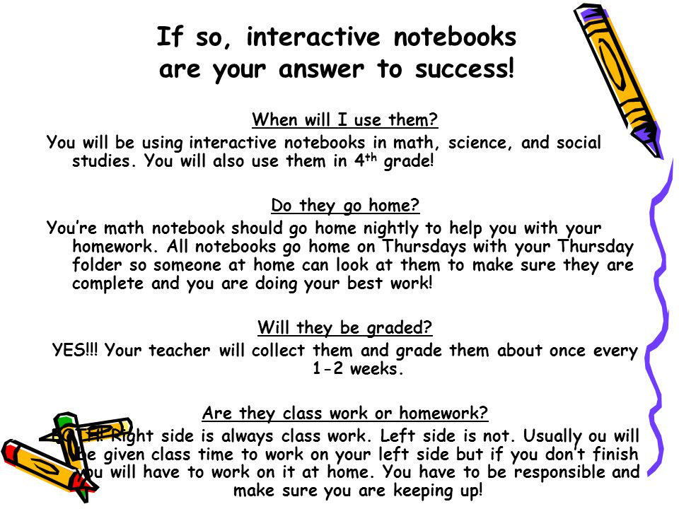 If so, interactive notebooks are your answer to success!