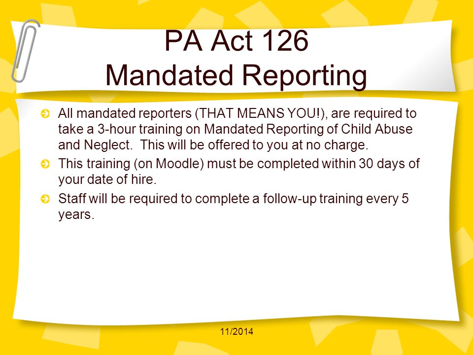 coursework or training in the identification and reporting of child abuse Take both nys mandated courses: infection control & barrier precautions, plus child abuse - new york mandated reporter training both only $30.