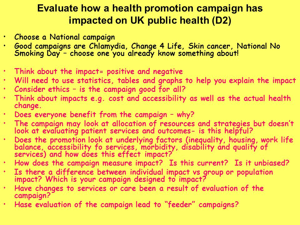 health campaigns to use to explain When you create a campaign on the campaigns overview page, you'll be asked to select which type of campaign you'd like to create in this article, we'll explain each campaign type and provide examples of how you might use it.