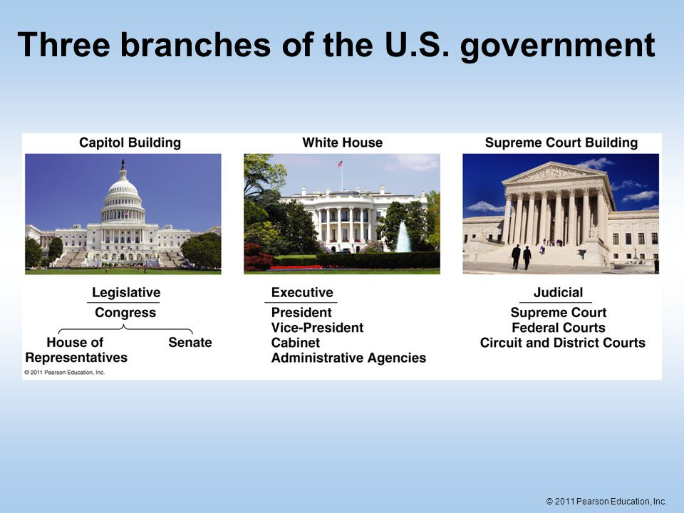 an overview of the three branches of the us government Carrying out the laws of the united states is a big job to help, the president has a vice president and department three branches of government author:.