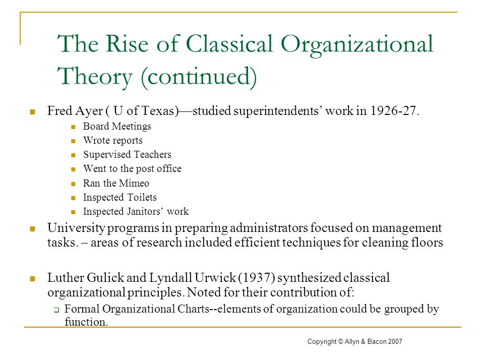 Many management theorists and their contributions
