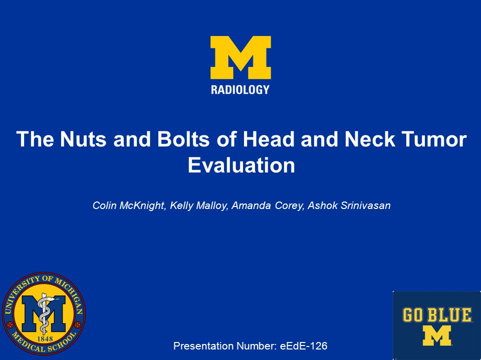 The Nuts and Bolts of Head and Neck Tumor Evaluation - ppt video ...