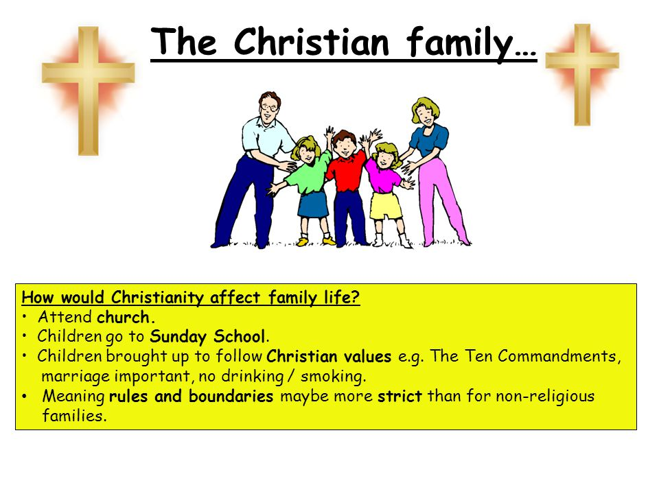 The Christian family… How would Christianity affect family life