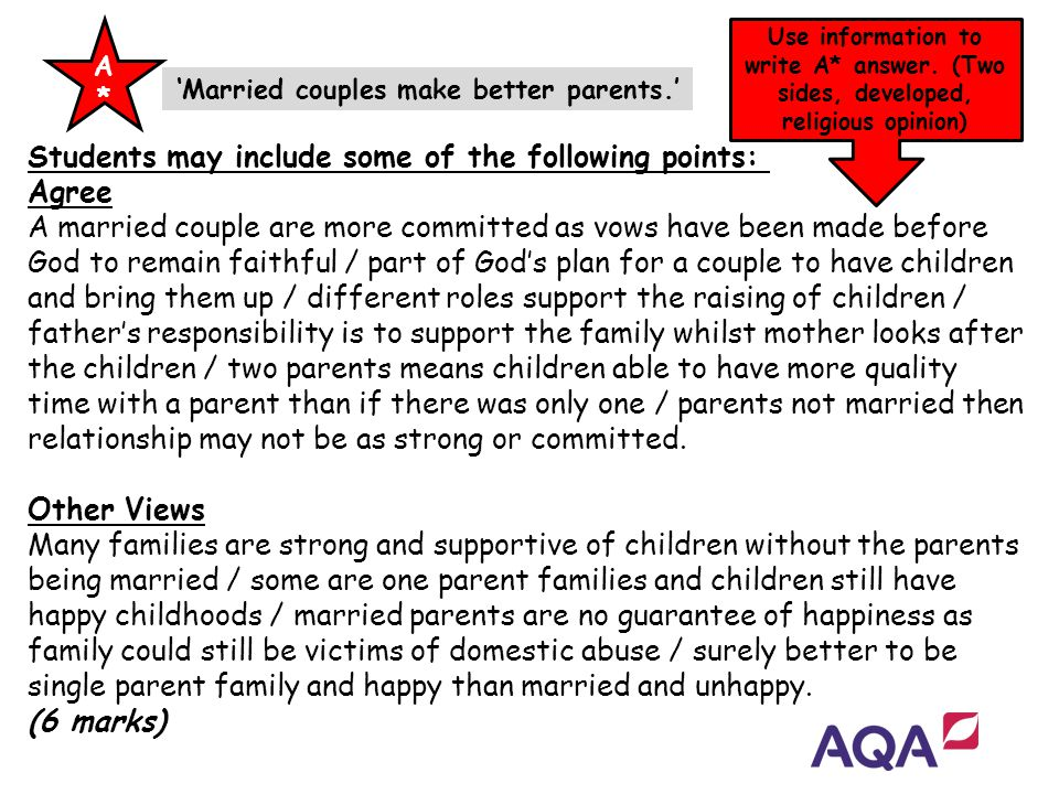 'Married couples make better parents.'