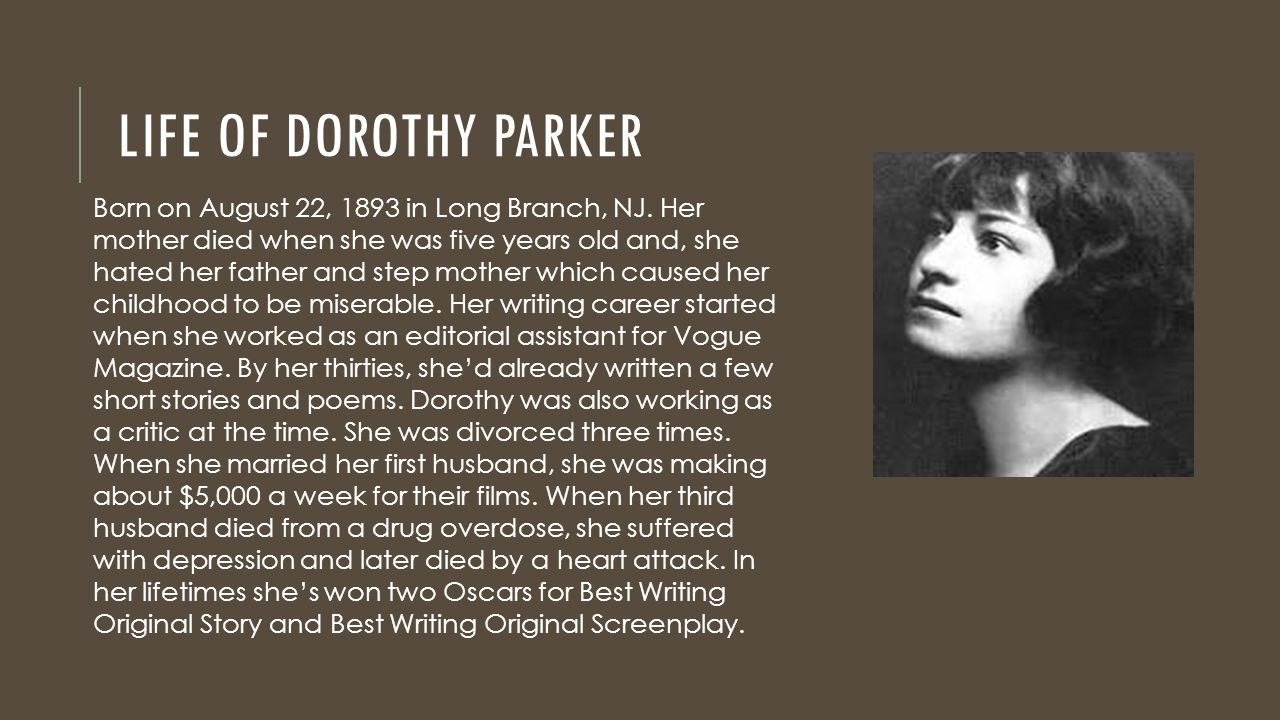 Resume Resume By Dorothy Parker love song by dorothy parker ppt download life of parker