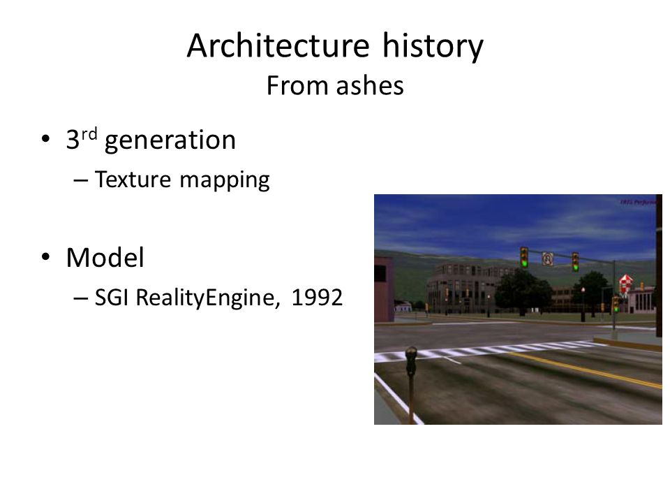 Architecture history From ashes