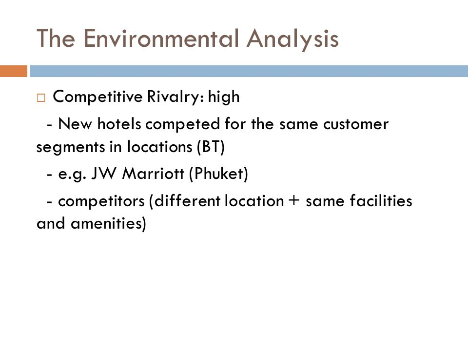 environmental analysis of protea hotel The internal and external environment analysis of romanian naval industry 99 for this purpose diagnosis are synthesized on components (production,.