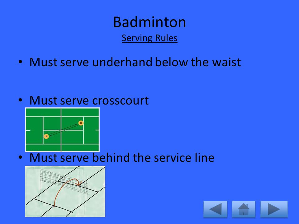 how to play badminton rules