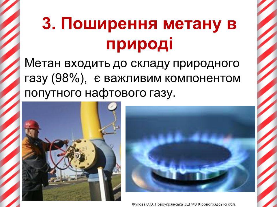 3. Поширення метану в природі