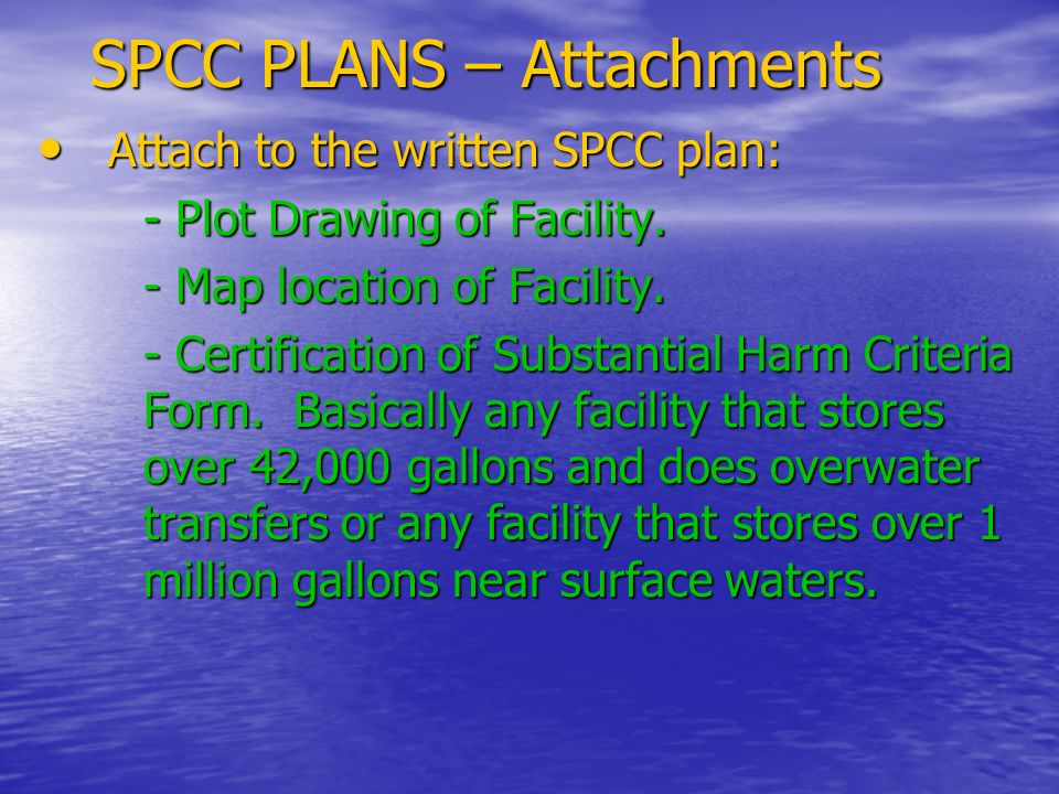 SPCC PLANS – Attachments