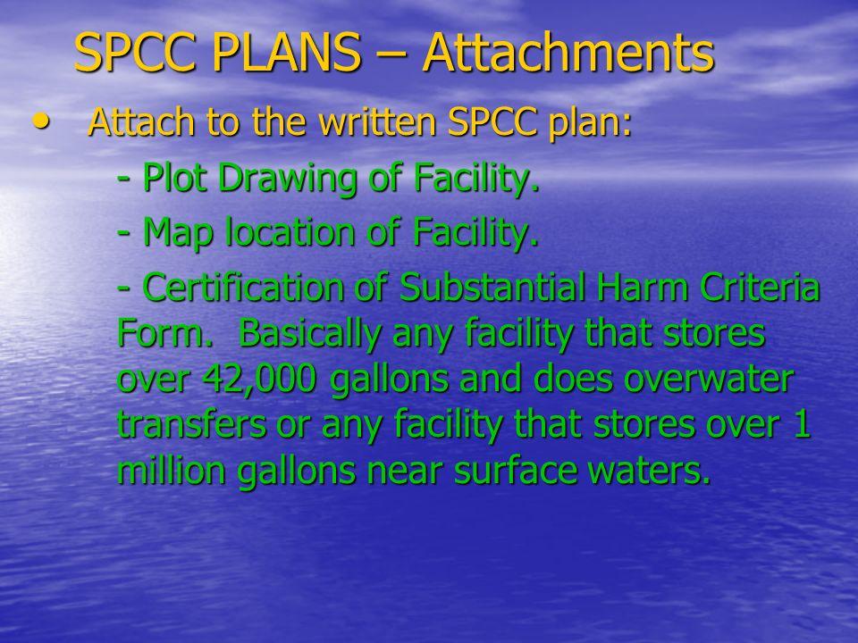 SPCC PLANS – Attachments