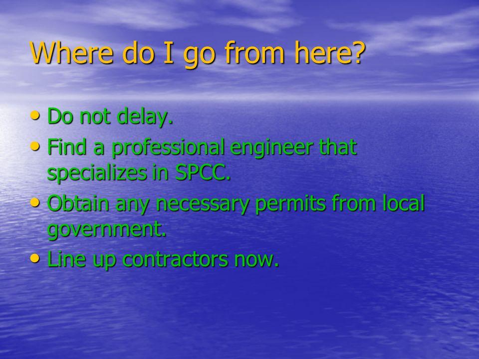 Where do I go from here Do not delay.